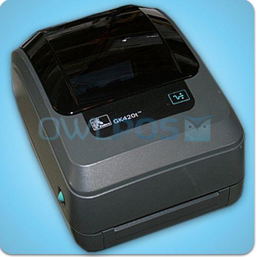 Zebra GK420T Thermal Transfer Barcode Shipping Label Printer Ethernet GK 420T