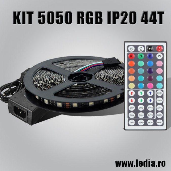 KIT BANDA LED RGB IP20 44 TASTE