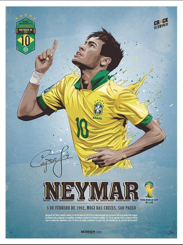 """""""Dünya Kupası yıldız adayları #Neymar"""""""