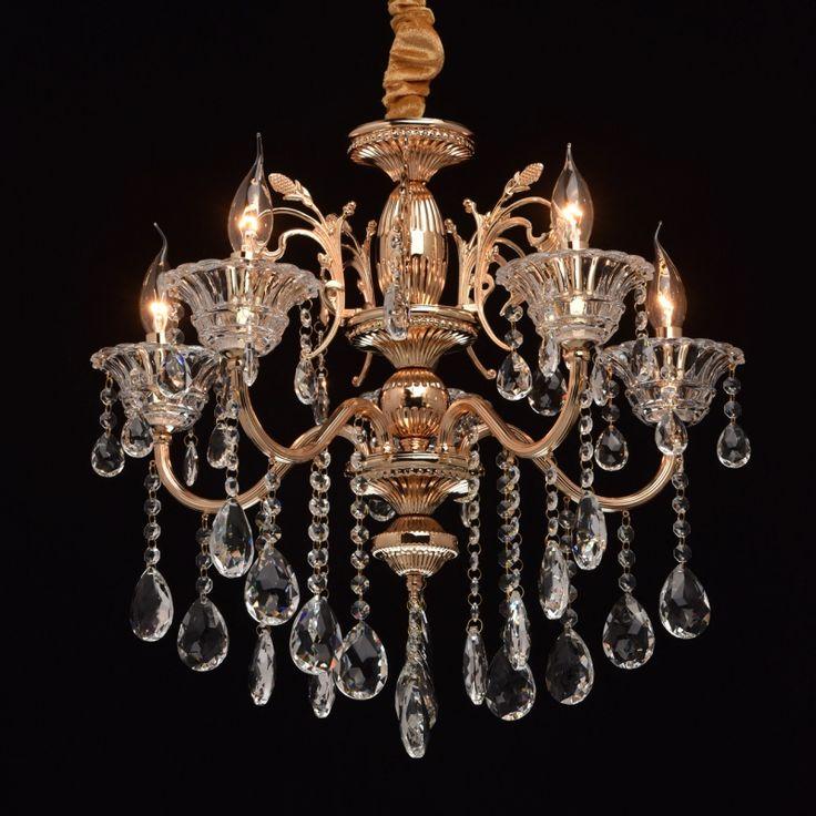 Klassischer Kristall Kerzen Kronleuchter 5-flammig MW-Light 482013105