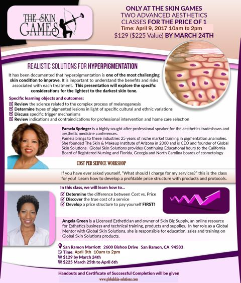 7 best the skin games 2018 images on pinterest skin treatments after the all day skin games event we have pamela springer and angela green in solutioingenieria Image collections