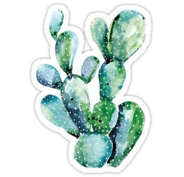 """""""Cactus"""" -Aufkleber von Sydney Wilhelm"""