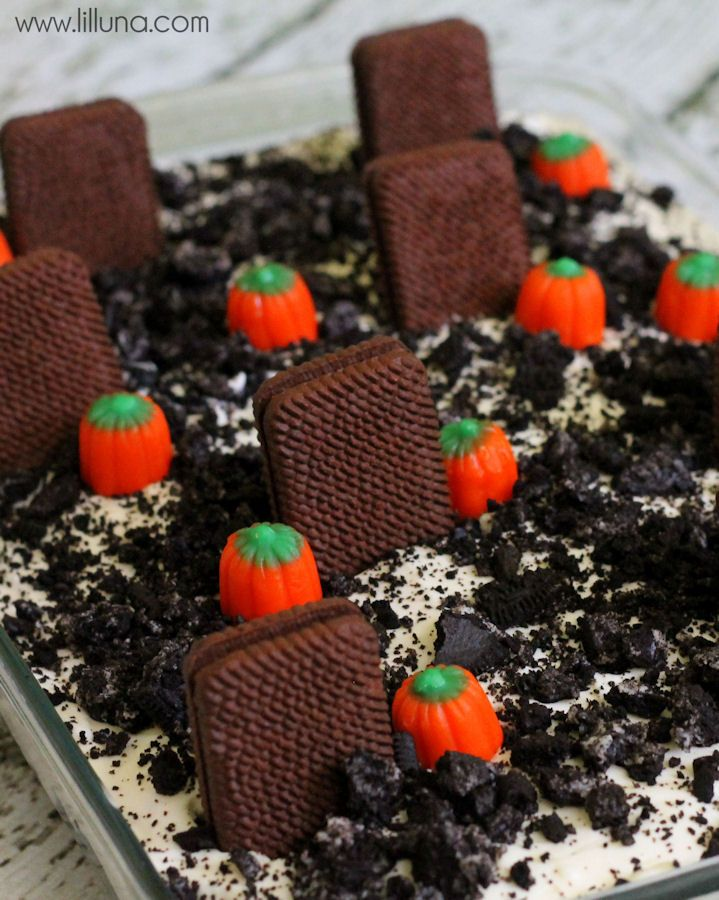Graveyard Dirt Cake Recipe Blogger Recipes We Love Pinterest