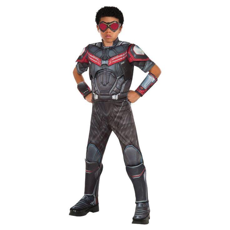 Marvel's Captain America: Civil War Boys' Deluxe Muscle Chest Falcon Costume L(12-14), Gray