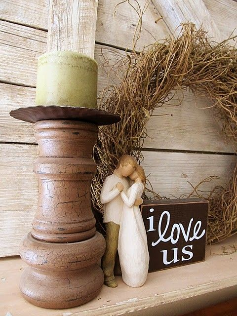 I need to make that little sign to go with our willow tree figurine.