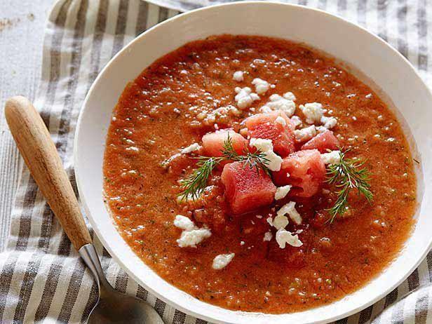 Watermelon Gazpacho Recipe | Tyler Florence | Food Network