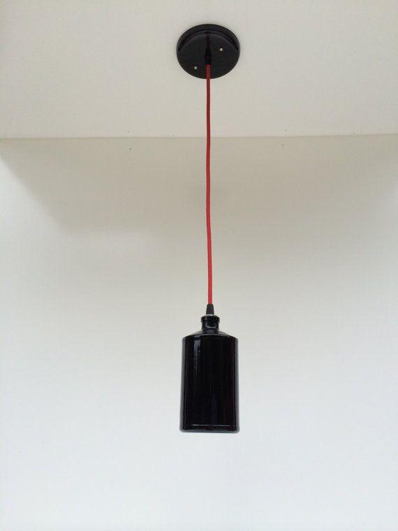 Dark Liquor Bottle Pendant Light by McIntoshDesignWorks on Etsy