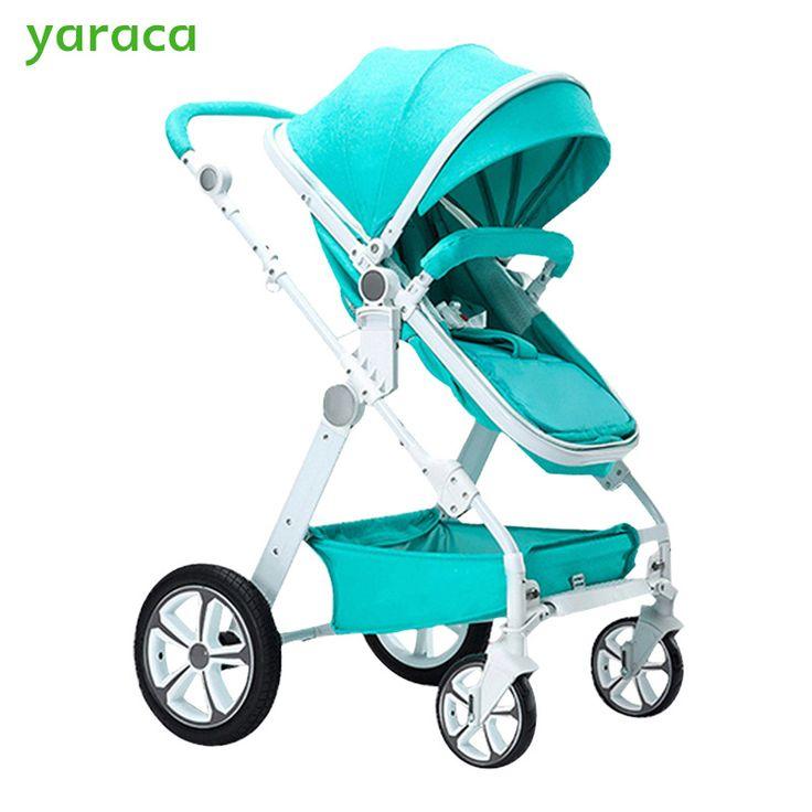 Cochecito de bebé 2 en 1 Cochecitos de Bebé Para Recién Nacidos de Alta Paisaje carro de Bebé Cochecitos Para Niños Con Asiento y Acostado Modos de Carros