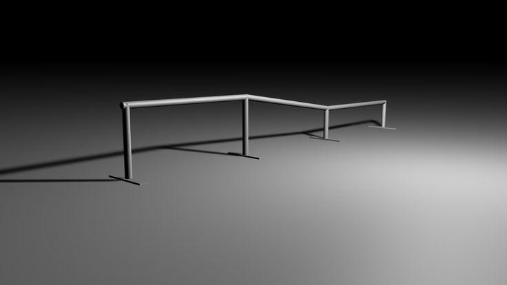 Skateboard Rail 3D 3Ds - 3D Model