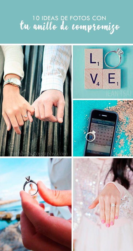 10 Ideas de fotos con tu anillo de compromiso