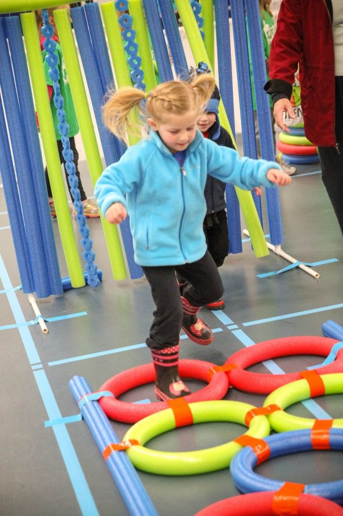 preschool obstacle course ideas set up a day with pool noodle obstacles 121