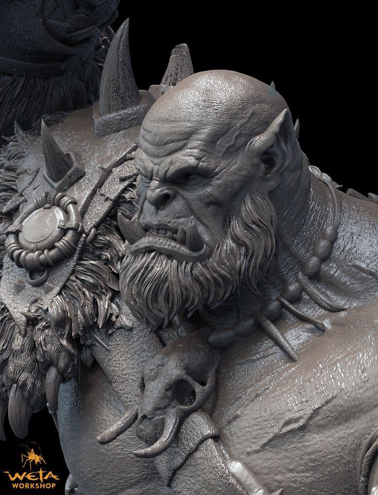 ArtStation - Orgrim Doomhammer 1:10th Scale Collectible - Weta Workshop, Jon…