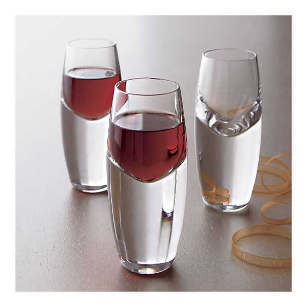 Kirby 2 oz Cordial Glass by crate&barrel - I love how the liquid appears to float in these.