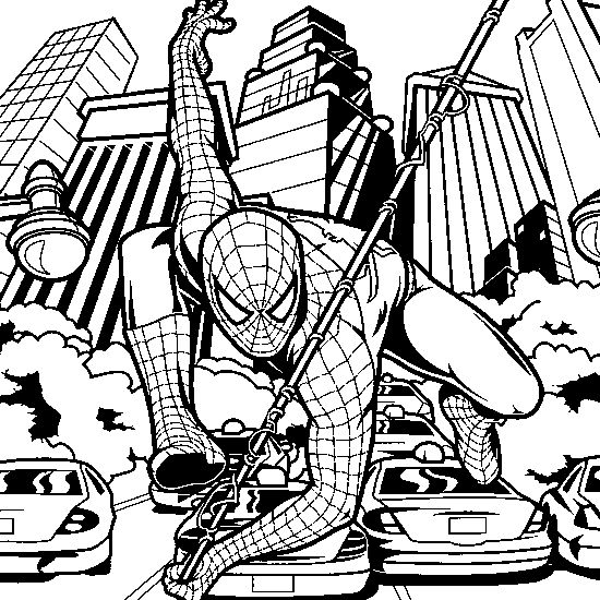 print spider man spider man coloring spiderman car fire coloring