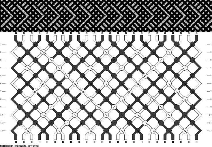 24 strings, 12 rows, 2 colors