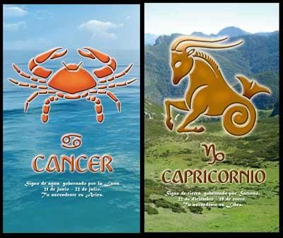 Cancr_Capricorn:-Cancer woman has the capability of getting the Capricorn man out of his hiding and express his feelings openly. When the woman fails to achieve this, it will mean that she will be living with a man who loves her greatly though not able to express it ever...