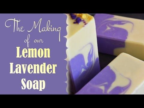 Making and Cutting Lemon Lavender Cold Process Soap Making