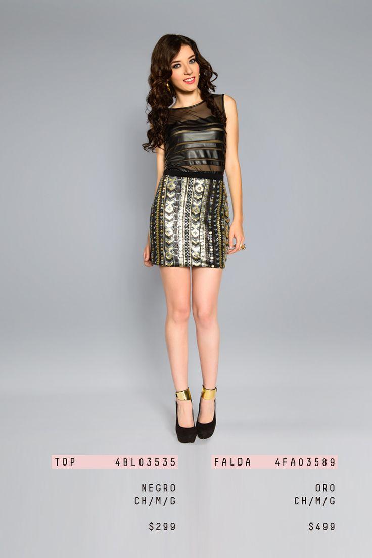 #lizminelli #moda #falda #blusa #chic #fiesta #antro  http://antro.lizminelli.com/