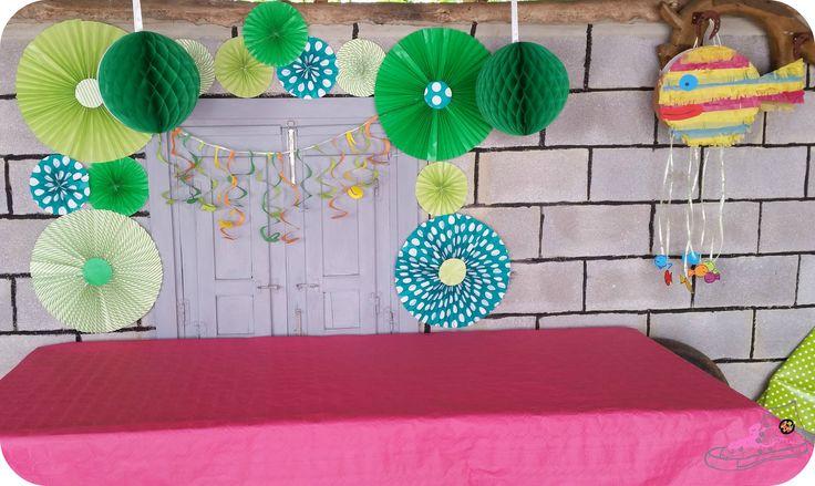 Piñata casera para cumpleaños