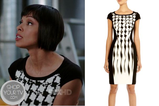 Shop Your Tv: Bones: Season 10 Episode 10 Camille's Black and White Houndstooth Dress