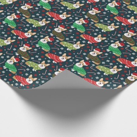 corgi xmas sweaters wrapping paper - click to get yours right now!