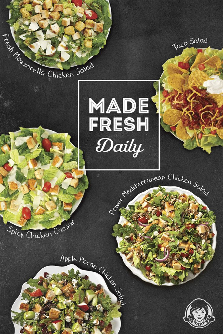Wendy's salads are fast, convenient and made fresh daily. They're the perfect salads for an imperfect world.