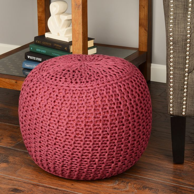 Indian poufs are hand-crafted from cotton material. Accent pieces make a great accessory to any room. Indian pouf are very light weight and provide great look. Comes in seven color options:ivory, blue, grey,beige,brown,burgundy, tan.