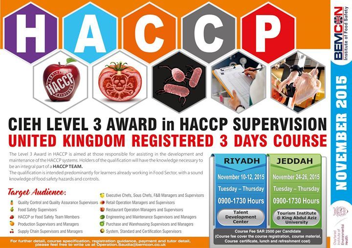 CIEH Level 3 Award in HACCP Supervision