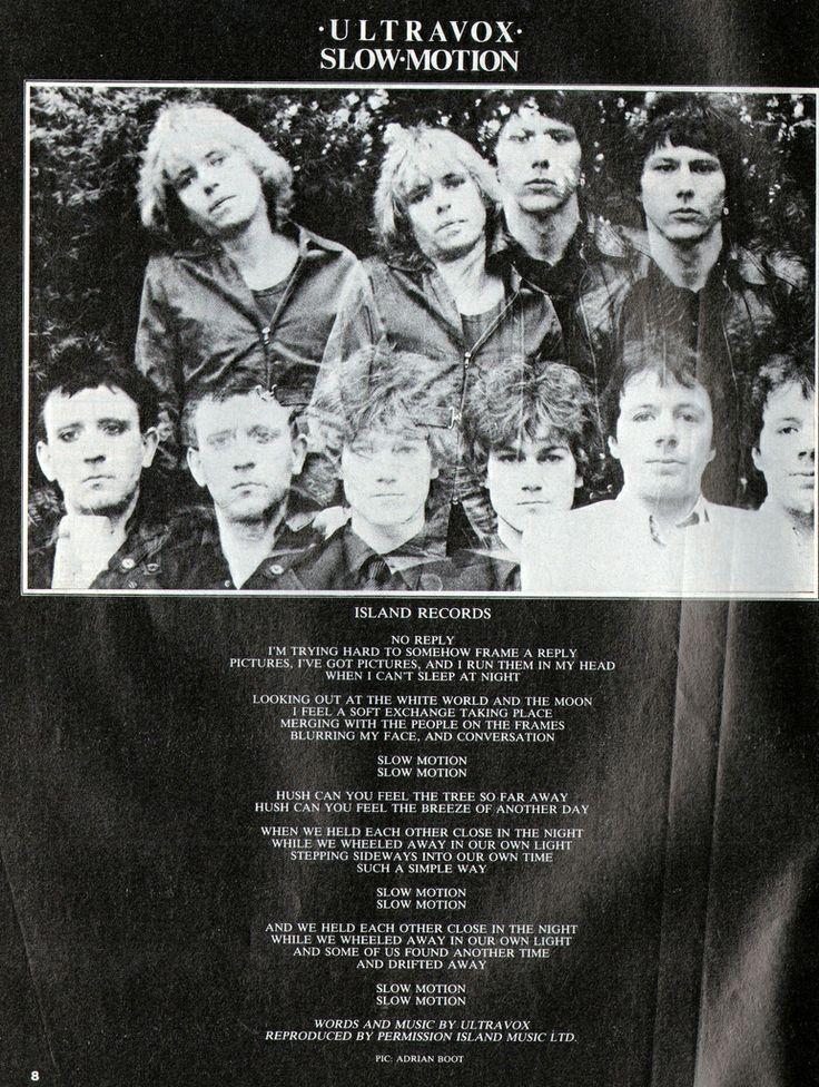 ULTRAVOX, Slow Motion, 1980