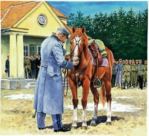 Piłsudski z Kasztanką - puzzle