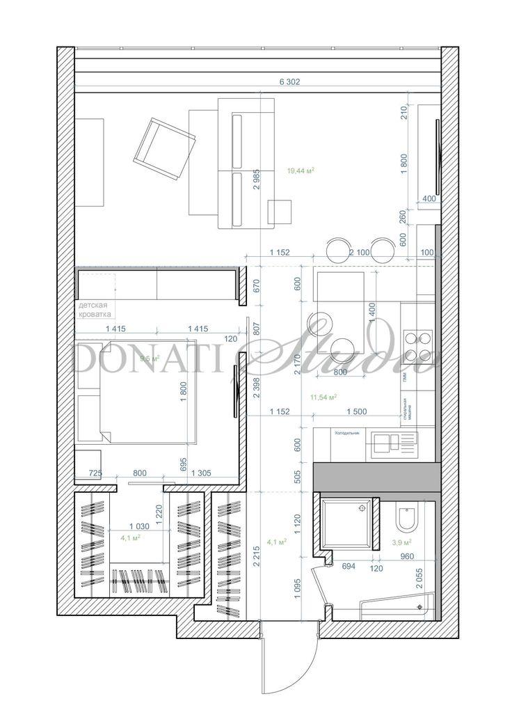 Интерьер двухкомнатной квартиры 53 м2