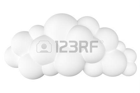 gestileerde cartoon wolk voor site-ontwerp of als pictogrammen op een witte tweede versie
