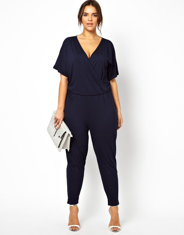 ASOS CURVE - Jumpsuit With Wrap
