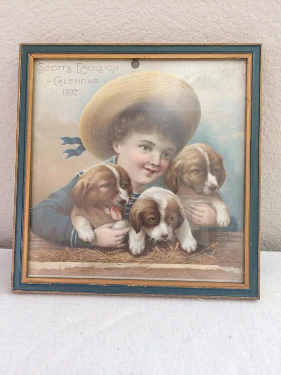 Scott's Emulsion Happy Family Cutout Sailor Boy Puppies