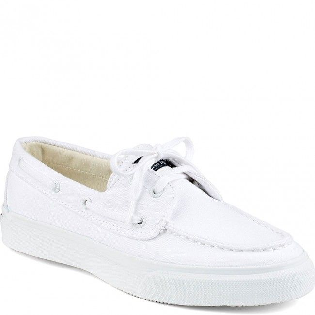 STS13456 Sperry Men's Bahama 2-Eye Casual Sneakers - White/White www.bootbay.com