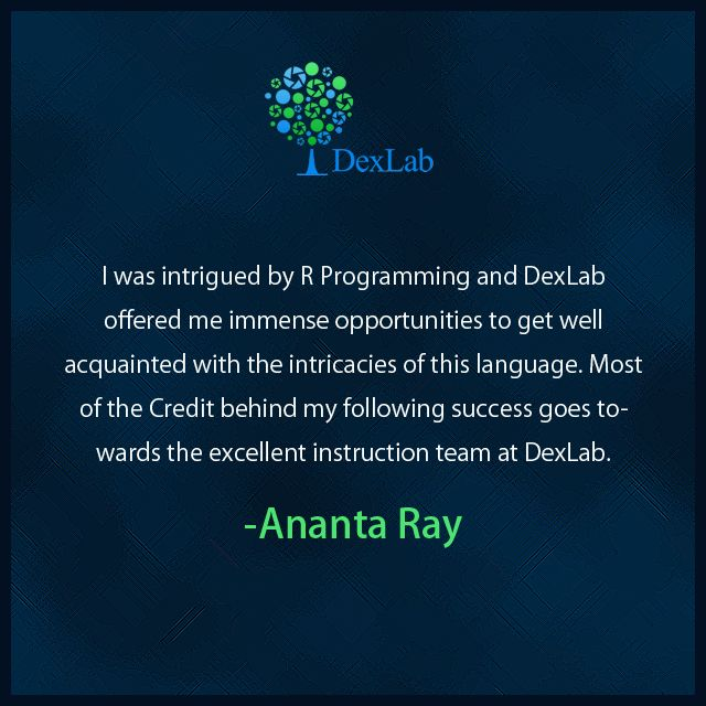 R is a programming language that is not only holding ground but also gaining on it, to speak figuratively. Ananta Ray discovered the possibilities of #RProgramming much to the delight of the prospects of his #career which undoubtedly is a bright one.
