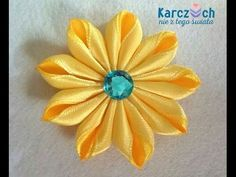 Мастер-класс Канзаши. Цветы из лент. Ободок для волос. Цветок Канзаши/Bezel for hair. Kanzashi - YouTube