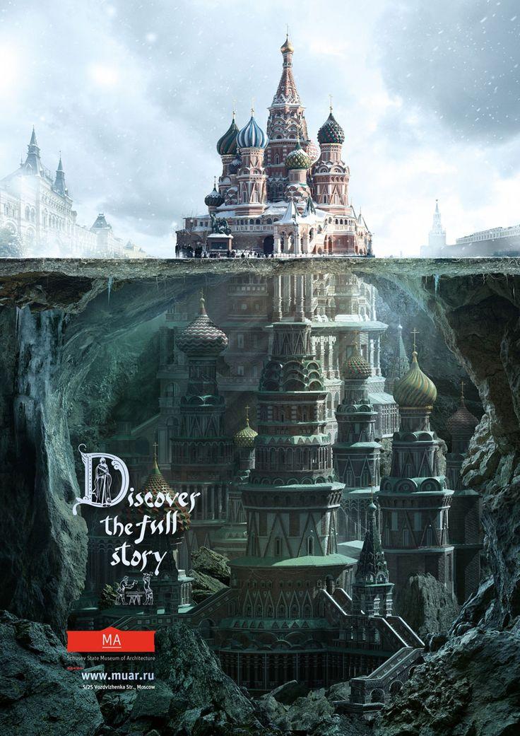 """Campanha mostra o que existe """"por baixo"""" de famosas construções russas ~ Pêssega d'Oro"""