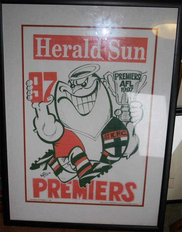 Weg Premiers Poster 1997 St Kilda Saints. The one that got away!!