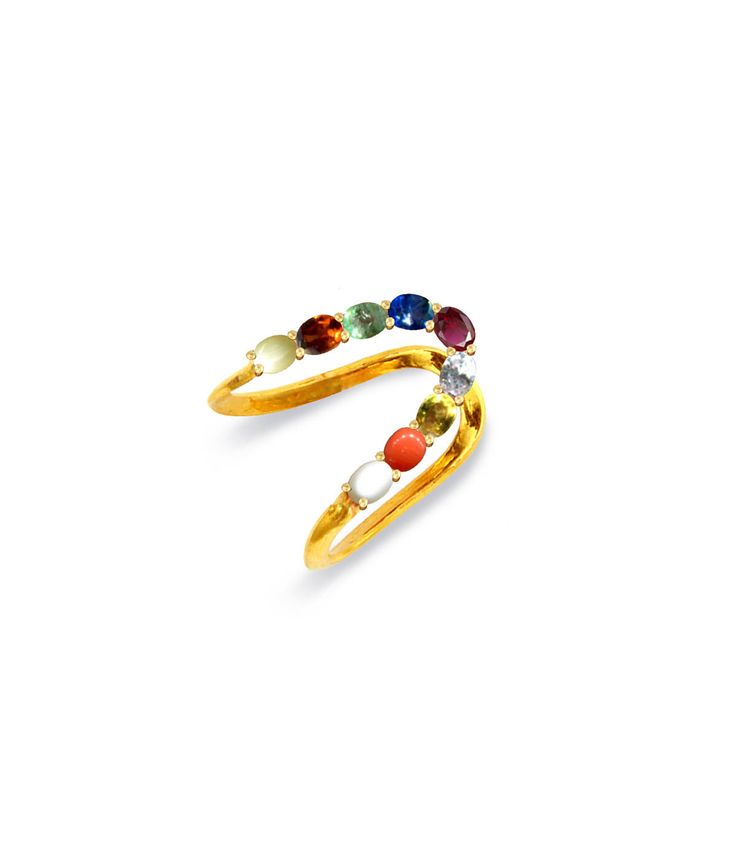 a traditional deli with the 9 gems #south indian jewellery a modern take, custom cut ovals.