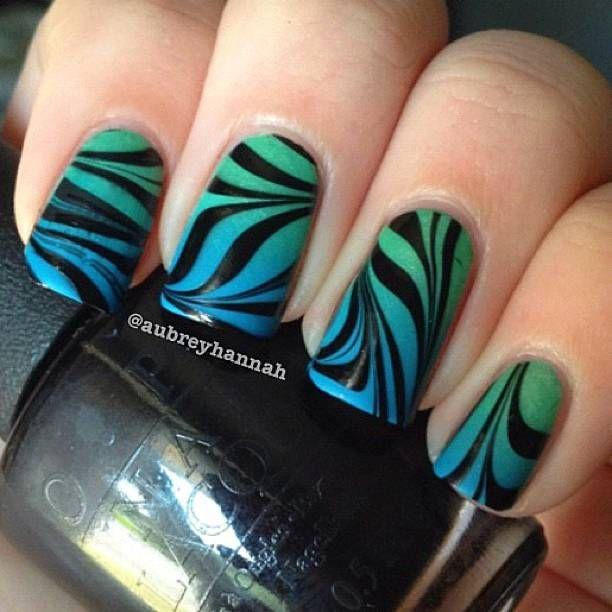 Nail art thenailartstory con nastri neri