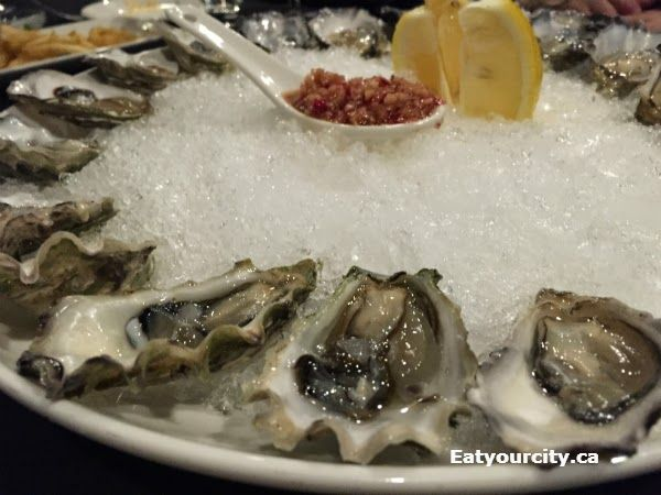 The Embarcadero Wine & Oyster Bar in Calgary, AB - Inoui oysters - small ultra sweet little oyster with a clean briney finish