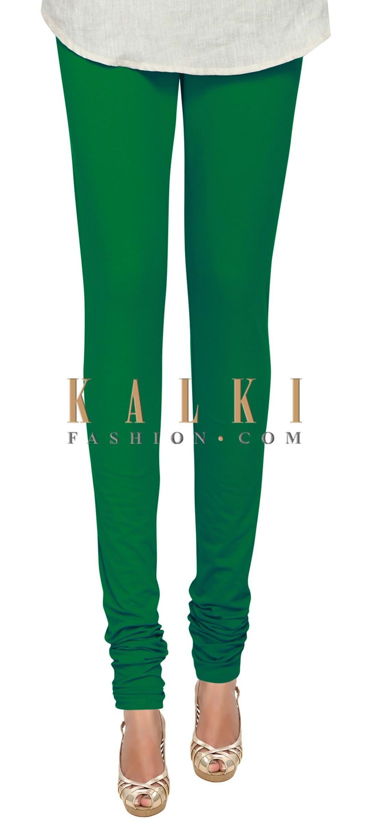 Buy Online from the link below. We ship worldwide (Free Shipping over US$100) Price- $9 Click Anywhere to Tag http://www.kalkifashion.com/green-cotton-hosiery-legging-only-on-kalki.html
