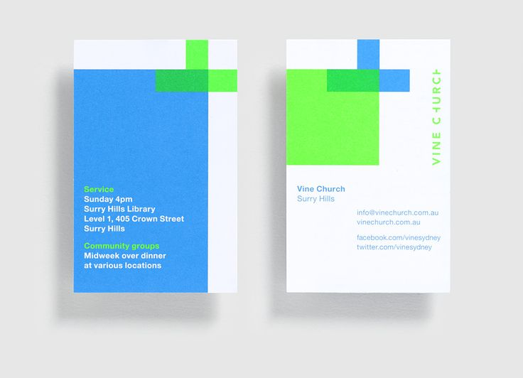 """Vine Church - Business Card Design Inspiration 