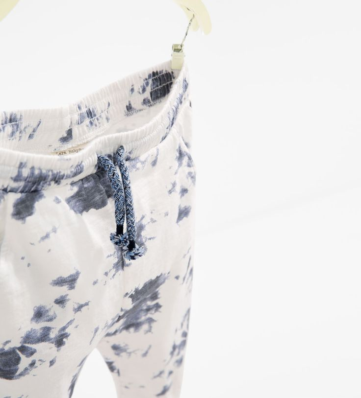 Marble-effect trousers-TROUSERS