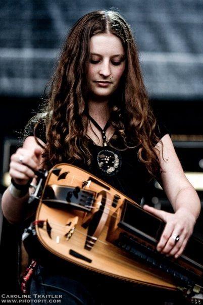 Anna Murphy of Eluveitie. Eluveitie is a Swiss folk metal band from Winterthur, Zurich. More Eluveitie at http://astore.amazon.com/eluveitie-20