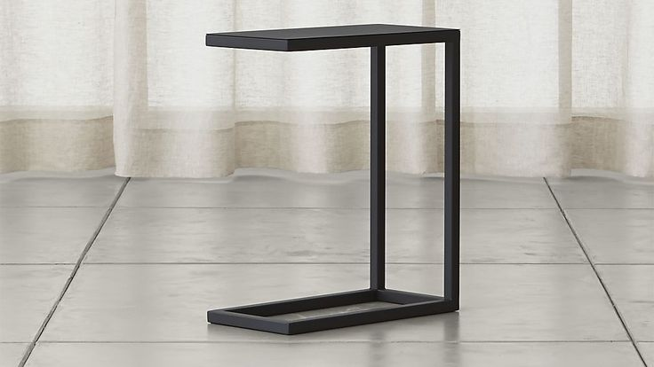 Avenue Black C Table | Crate and Barrel