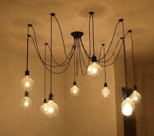Frete grátis, Edison Lustre, Edison lâmpada candelabro,lustres Modernos