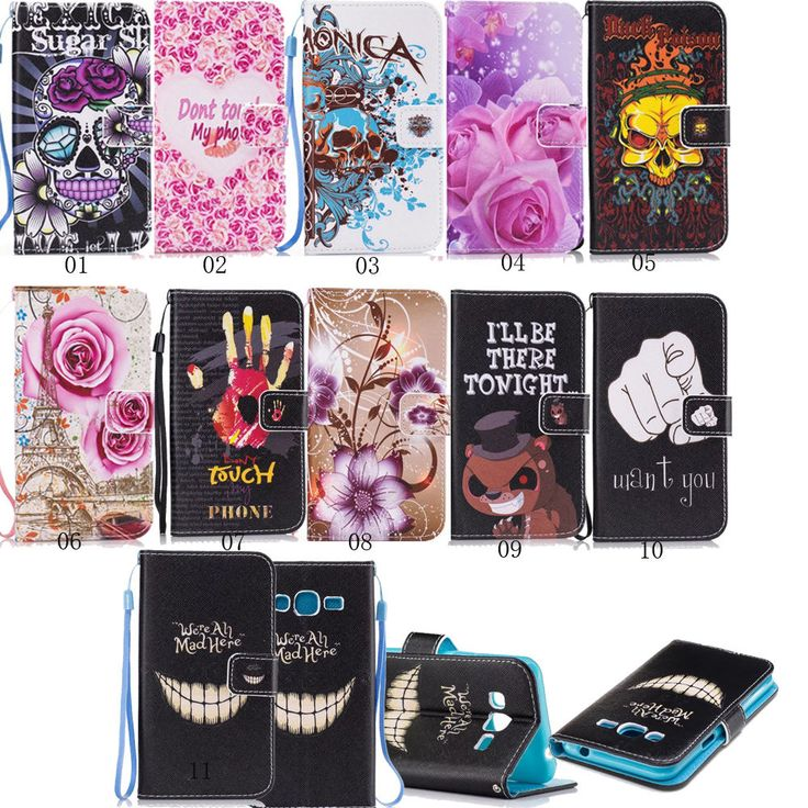 New Luxury Flip Wallet Leather Case With Card Holder For Samsung Galaxy Phones