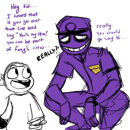 Fnaf hold me and purple on pinterest